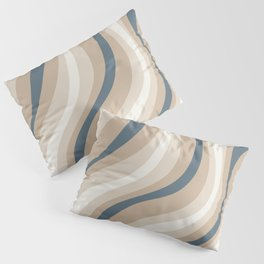 Pastel Blue and Coffee Stripes Pillow Sham