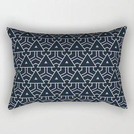 Modern Geometric Navy Blue Pattern Rectangular Pillow