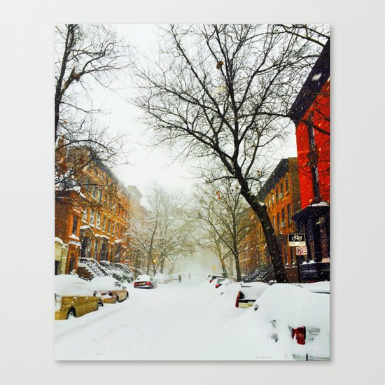 NYC @ Snow Time Canvas Print