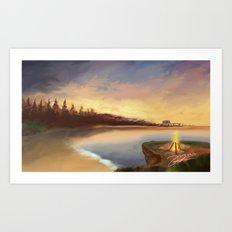 burning horizon  Art Print