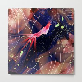 Le Jardin Secret Metal Print