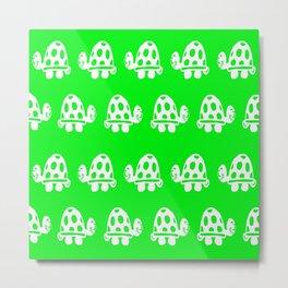 TORTOISE GREEN NURSERY PRINT Metal Print