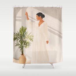 Opened Window Shower Curtain