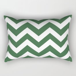 Hunter green - green color - Zigzag Chevron Pattern Rectangular Pillow