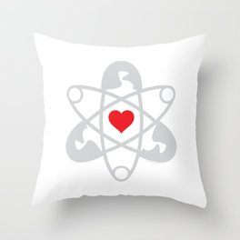 Peace. Love. Science. Throw Pillow