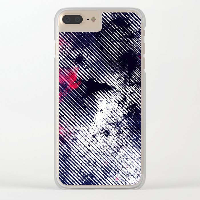 Grunge Clear iPhone Case