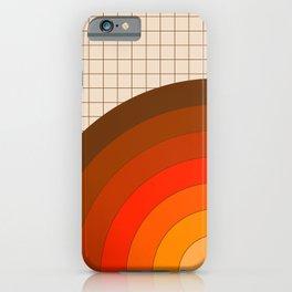 Tan Gridlines iPhone Case