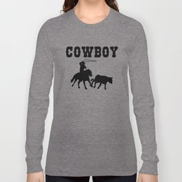 Cowboy Gift Maverick And Horse Lover Black Long Sleeve T-shirt