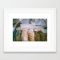bread Framed Art Prints featuring Bread by Ali Inay