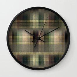 """Scottish squares"" Wall Clock"