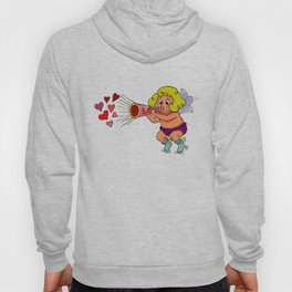 """""""LOVE - Loud & Clear { Boy Cupid }"""" by Jesse Young ILLO Hoody"""