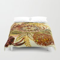 thanksgiving Duvet Covers featuring Thinking of Thanksgiving by Sand Salt Moon