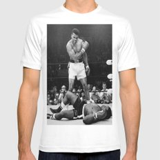 Ali White MEDIUM Mens Fitted Tee