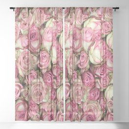 Your Pink Roses Sheer Curtain