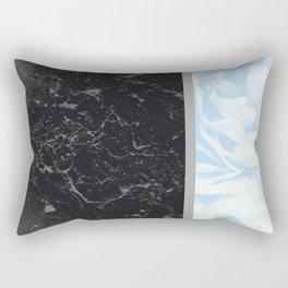 Light Blue Flower Meets Gray Black Marble #4 #decor #art #society6 Rectangular Pillow