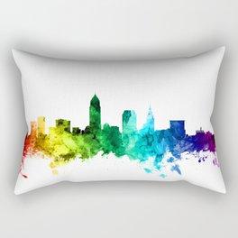 Cleveland Ohio Skyline Rectangular Pillow