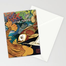 Koi & Egret Stationery Cards