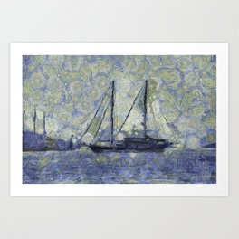 The Ship Van Goth Art Print