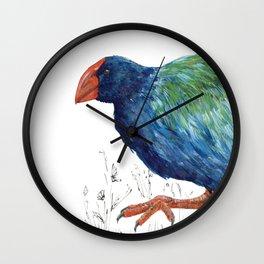 Takahe, flightless bird of New Zealand Wall Clock