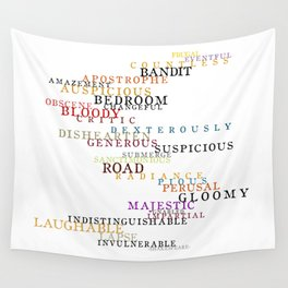 Word Inventions William Shakespeare Quote Art - Typography Wall Tapestry