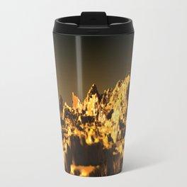 Golden mountain landscape nature illustration Travel Mug