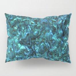 Abalone Shell | Paua Shell | Sea Shells | Patterns in Nature | Cyan Blue Tint | Pillow Sham