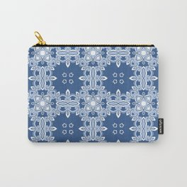 Kitty in a Blue Shoe Print Two Carry-All Pouch