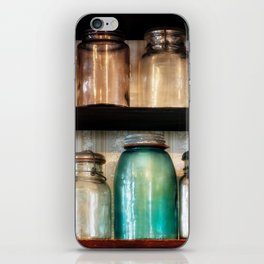 Canning jars in Spindletop-Gladys iPhone Skin