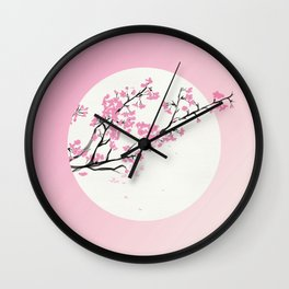 First Cherry Blossoms Wall Clock