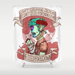 soft grunge jesus Shower Curtain
