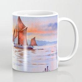 Thames Barge At Maldon England Coffee Mug
