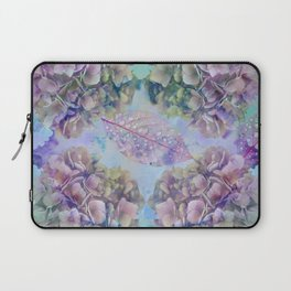 Watercolor hydrangeas and leaves Laptop Sleeve