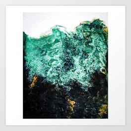 Turquoise waves Art Print