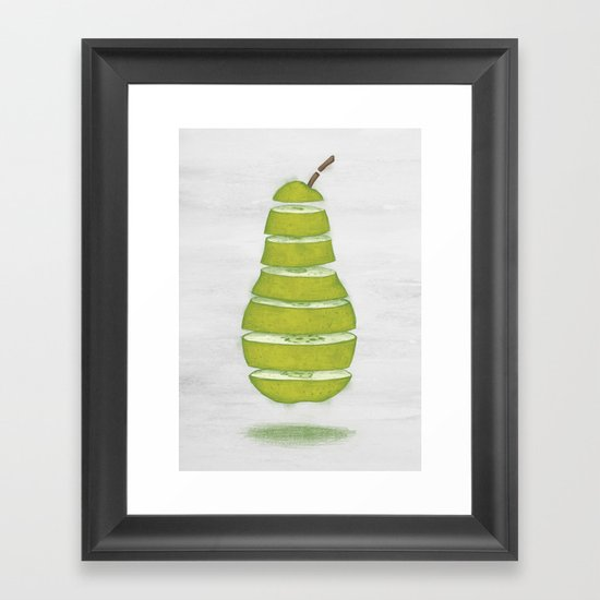 A Pear Apart Framed Art Print