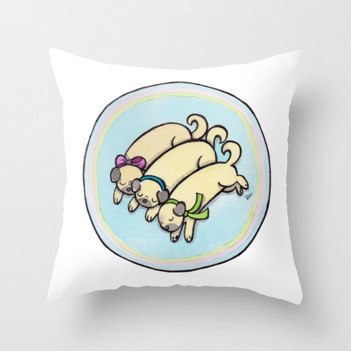 Snug as a Pug on a Rug Throw Pillow