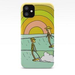 follow the light rainbow sunrise daydream hang 10 iPhone Case