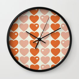 Bubblegum Hearts Wall Clock