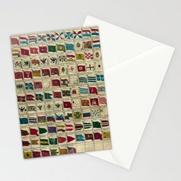Vintage Naval Flags of The World Illustration Stationery Cards