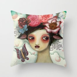 Bathing Beauty by CJ Metzger Throw Pillow