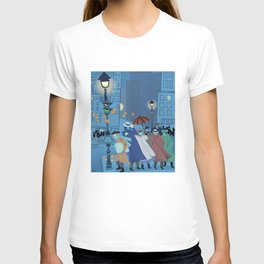 November Evening Bus Stop T-shirt