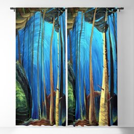 Big Sky Country, Forest Morning Blue portrait painting by Emily Carr Blackout Curtain