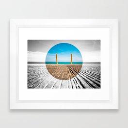 Lakefront Goal Framed Art Print
