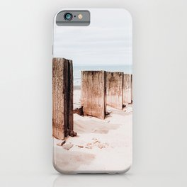 Wooden Groynes Photo | Nature Photography | Groynes At The Beach iPhone Case