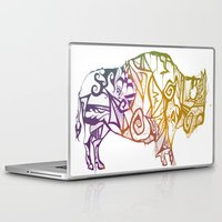 bison Laptop & iPad Skins featuring Bison. by Stefani Reeder