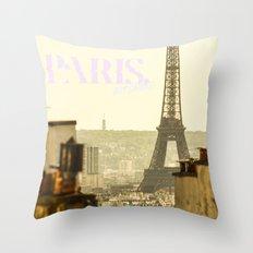 paris, bitches! Throw Pillow