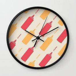 Flight of the Condiments Wall Clock