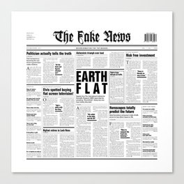 The Fake News Vol. 1, No. 1 Canvas Print