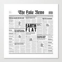 The Fake News Vol. 1, No. 1 Canvas Print