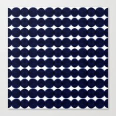 Blue Dots Canvas Print