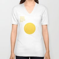 eggs V-neck T-shirts featuring Eggs by slava